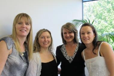 Julie, Melissa, Corban and Carlie at Carlie's 10 year celebration