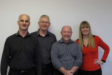 Long-term Enprise & MYOB EXO customer Wayne Curran of Ullrich Aluminium with Elliot, Mark & Julie of Enprise.