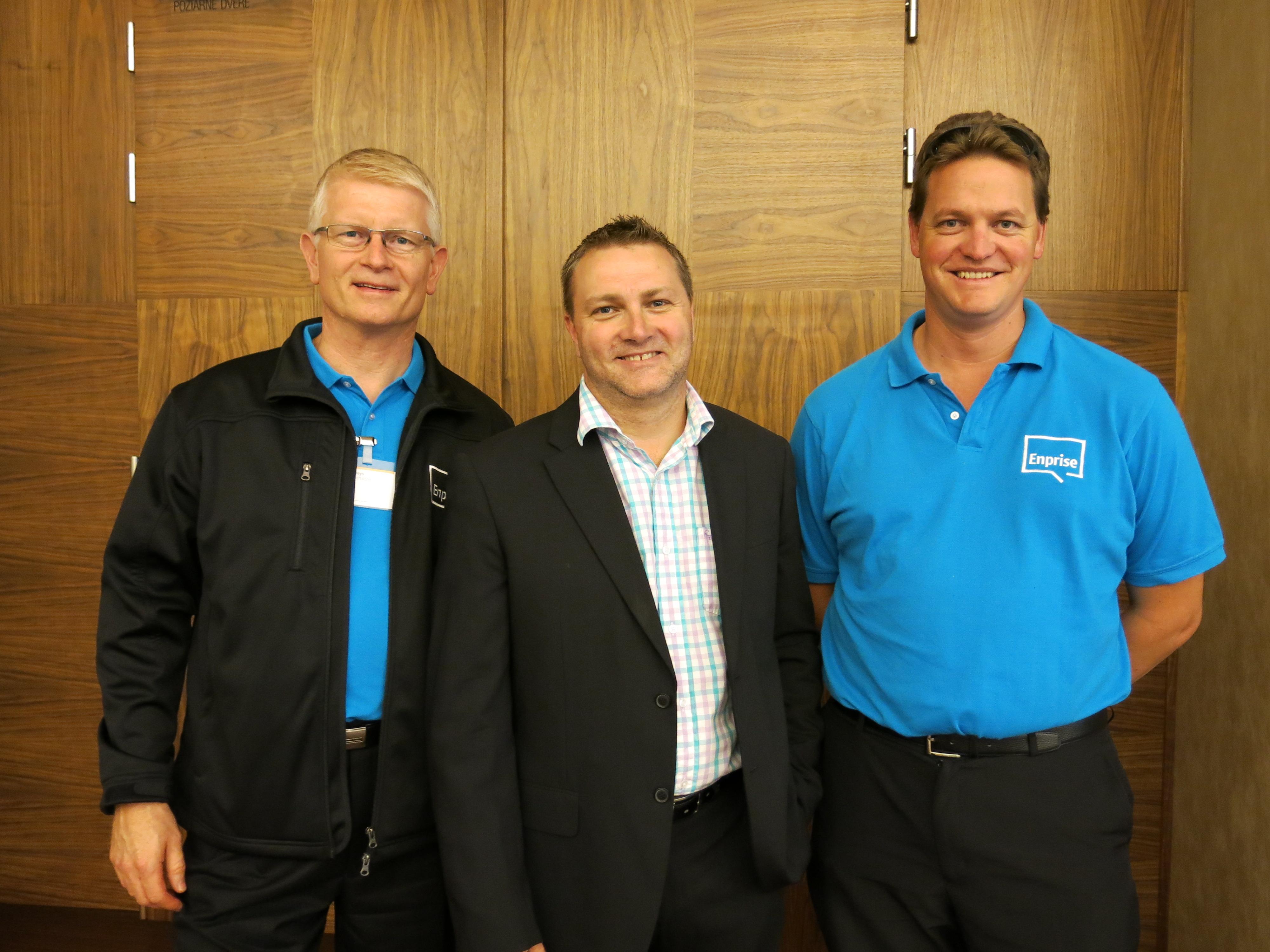 Mark Loveys, Darren de Vries and James Brading