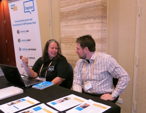 Cathy Masters demonstrates Enprise Anywhere top an SAP Business One partner